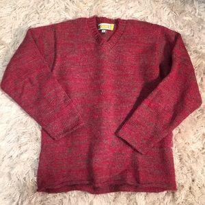 Vintage Benneton NAYLS Sweater Marled Red / Taupe